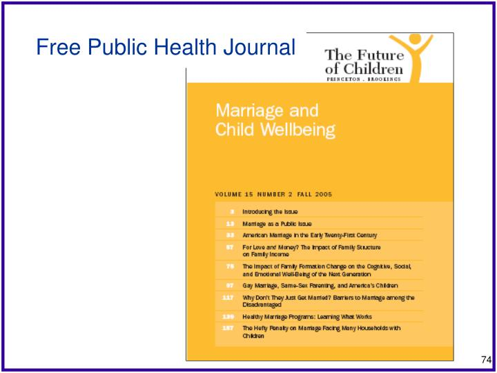 Free Public Health Journal