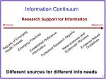 information continuum