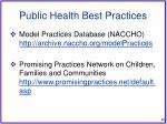 public health best practices