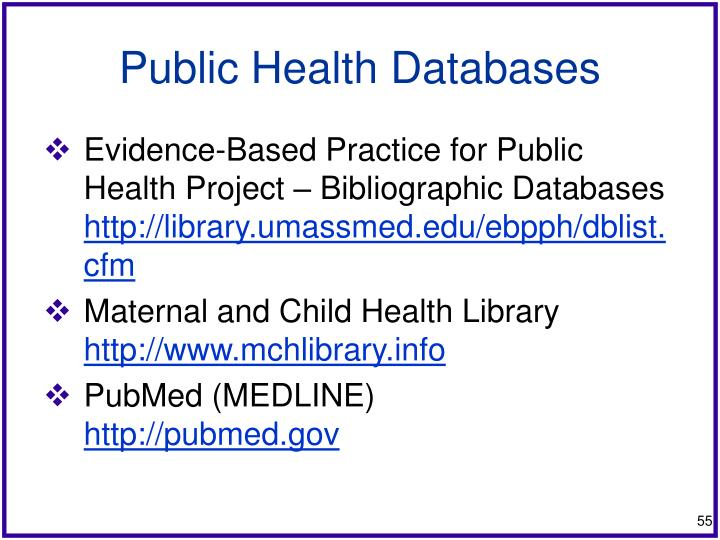 Public Health Databases