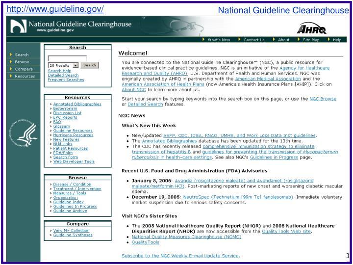 http://www.guideline.gov/