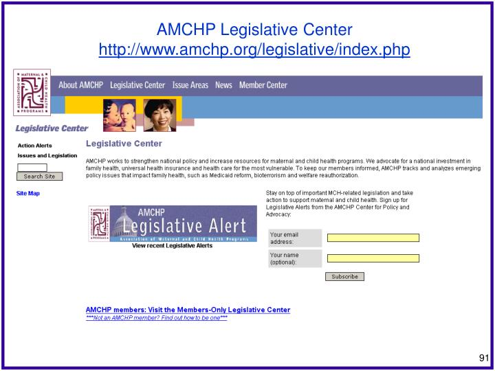 AMCHP Legislative Center