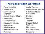 the public health workforce