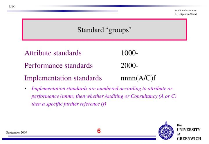 Standard 'groups'