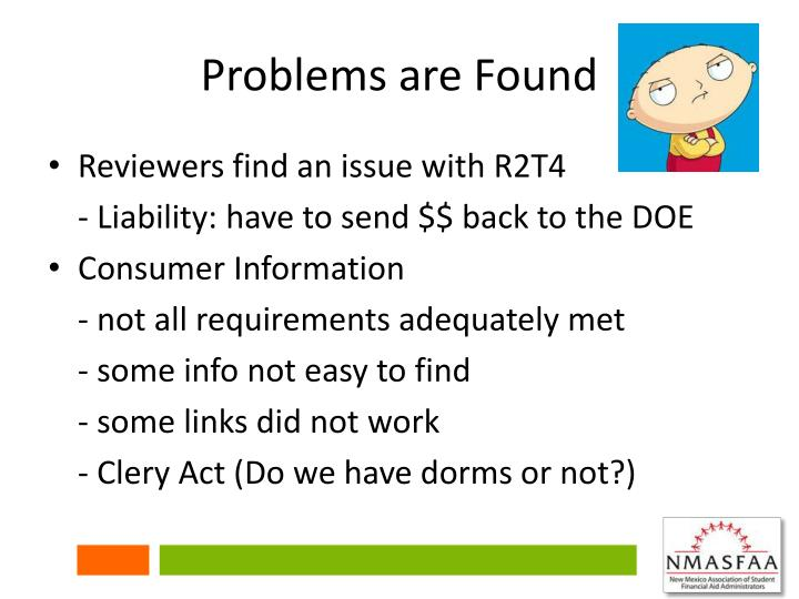 Problems are Found
