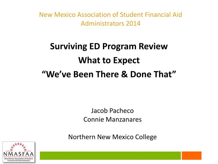 New Mexico Association of Student Financial Aid Administrators 2014