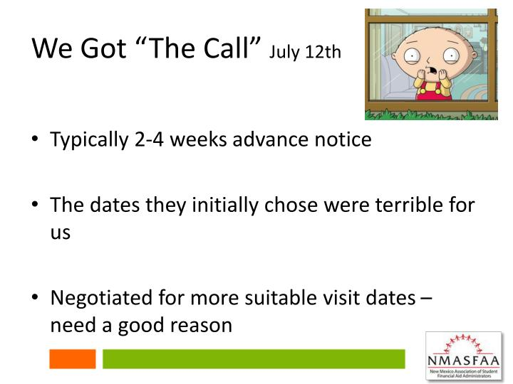 """We Got """"The Call"""""""