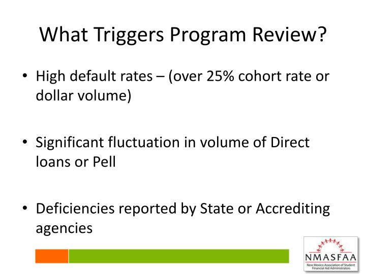 What Triggers Program Review?
