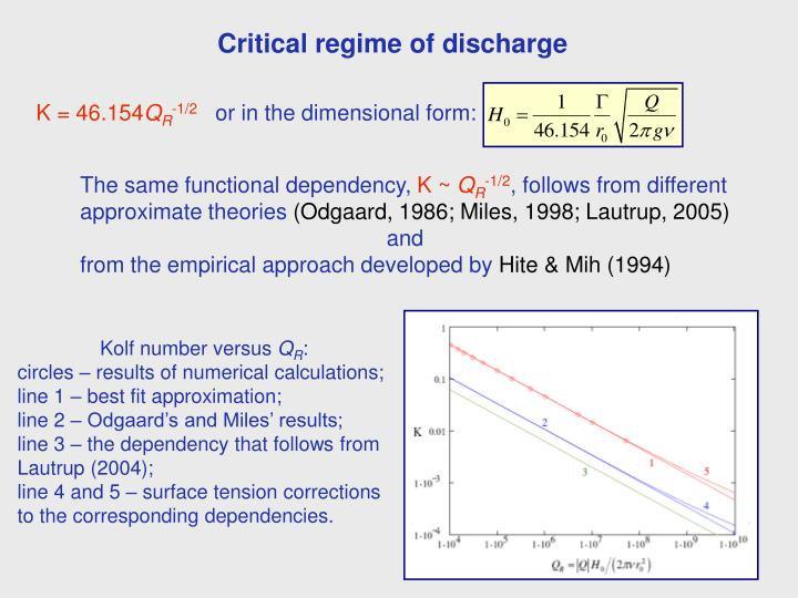 Critical regime of discharge