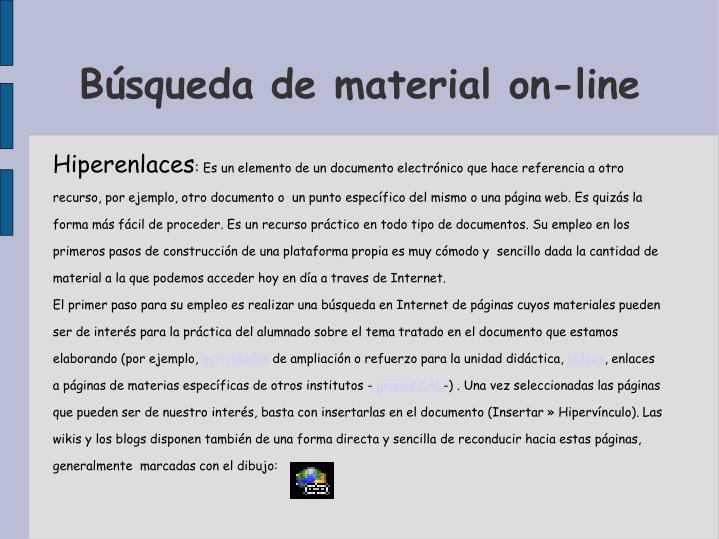 Búsqueda de material on-line