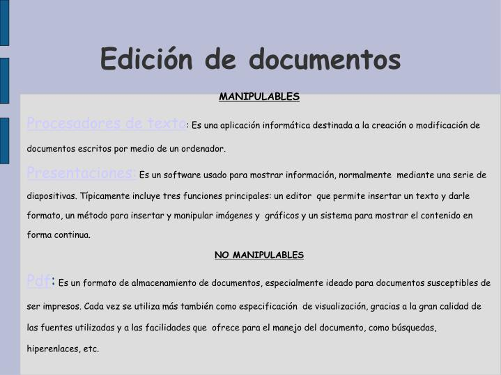 Edición de documentos