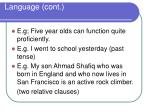 language cont