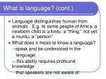 what is language cont