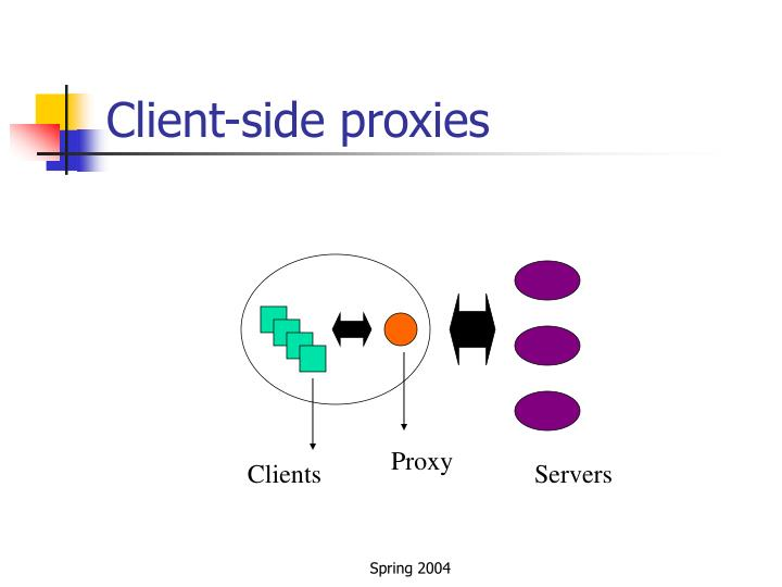 Client-side proxies