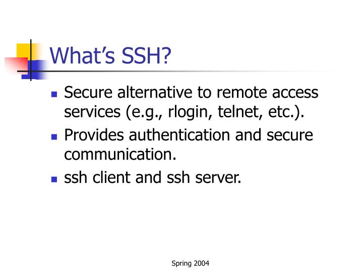 What's SSH?