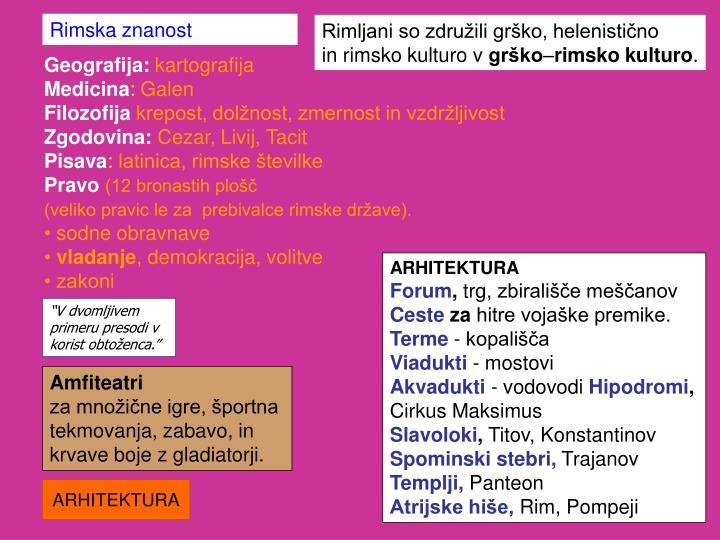 Rimska znanost