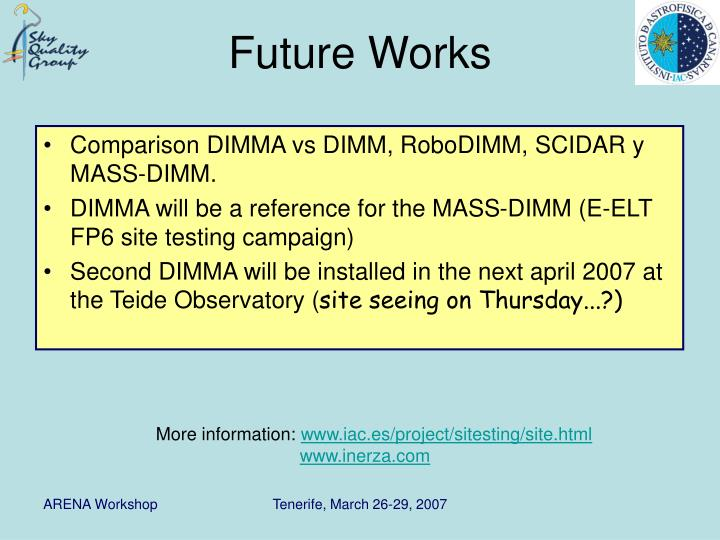Comparison DIMMA vs DIMM, RoboDIMM, SCIDAR y MASS-DIMM.