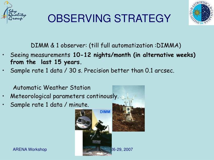 DIMM & 1 observer: (till full automatization :DIMMA)