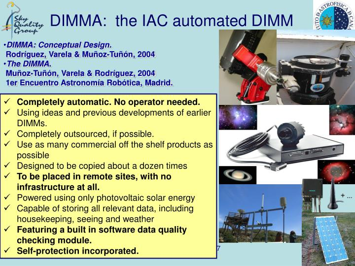 DIMMA:  the IAC automated DIMM