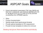 aspcap goals