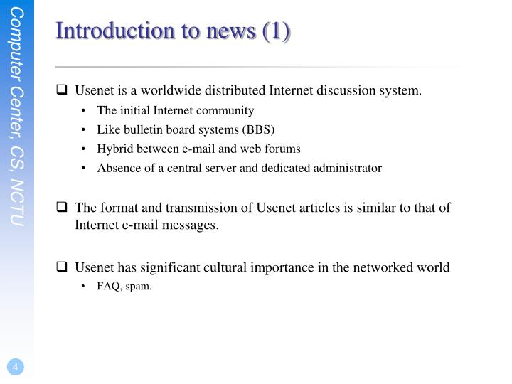 Introduction to news (1)