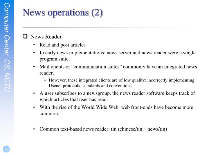 News operations (2)