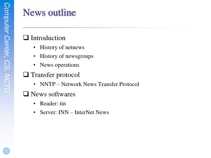 News outline