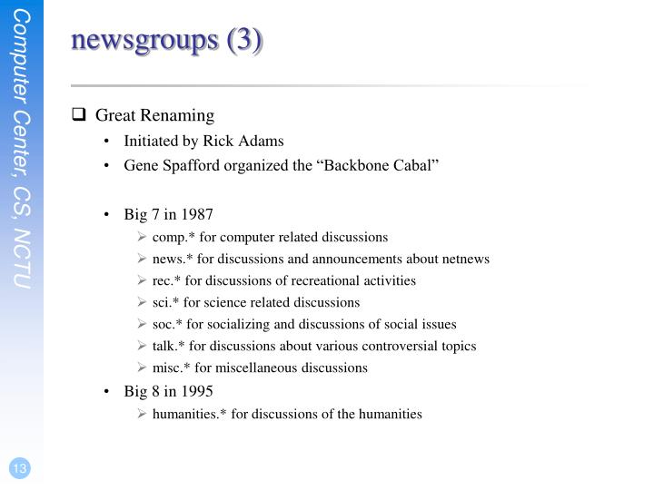 newsgroups (3)