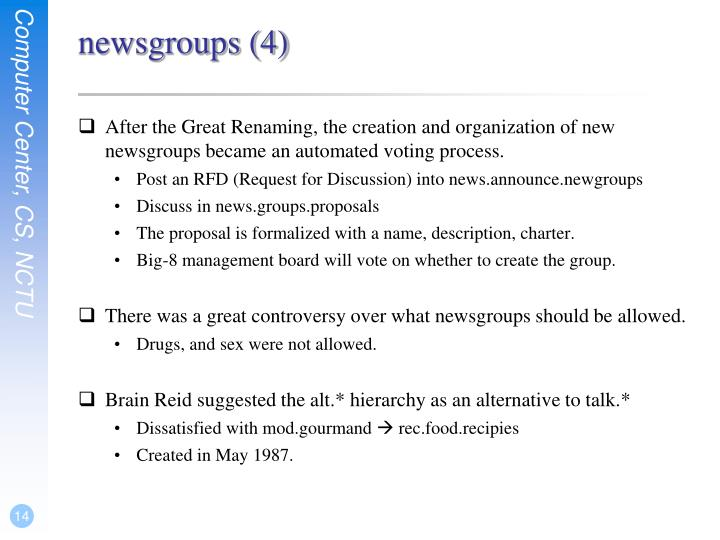 newsgroups (4)