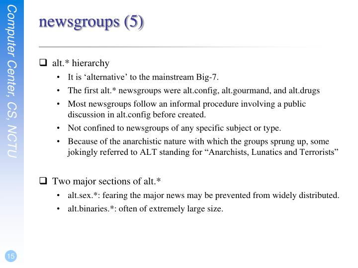 newsgroups (5)