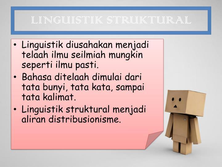 LINGUISTIK STRUKTURAL