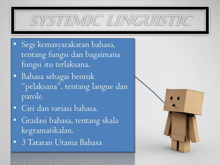 Systemic linguistic