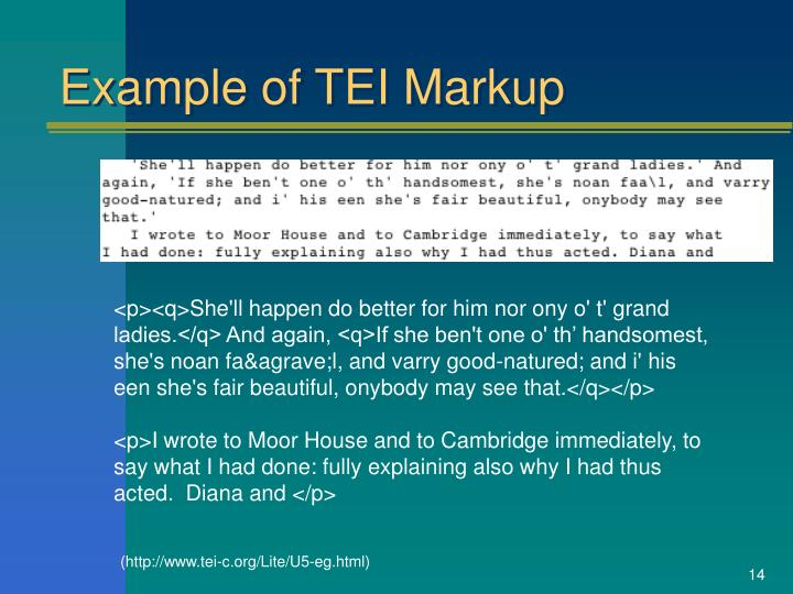 Example of TEI Markup