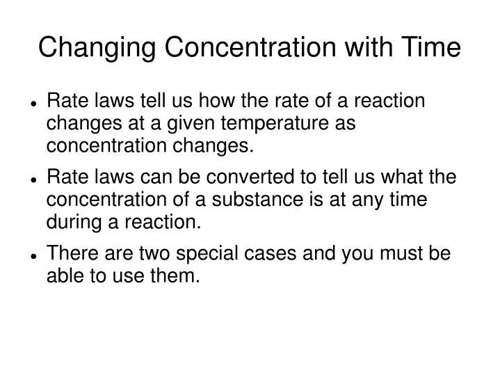 Changing Concentration with Time