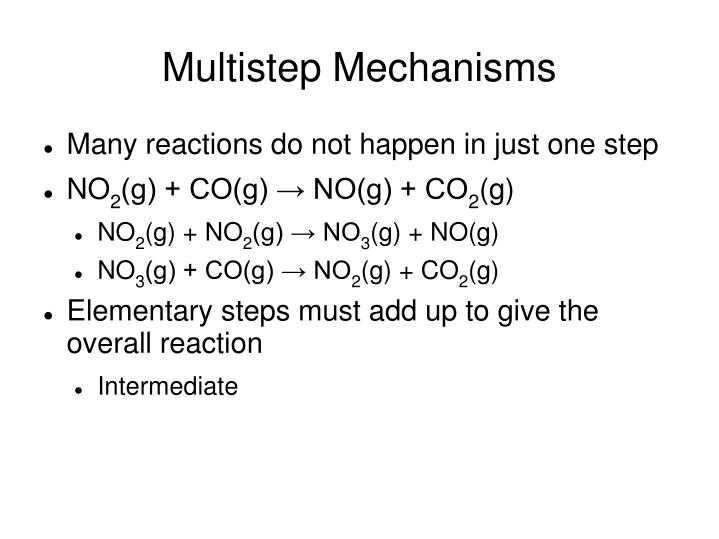 Multistep Mechanisms