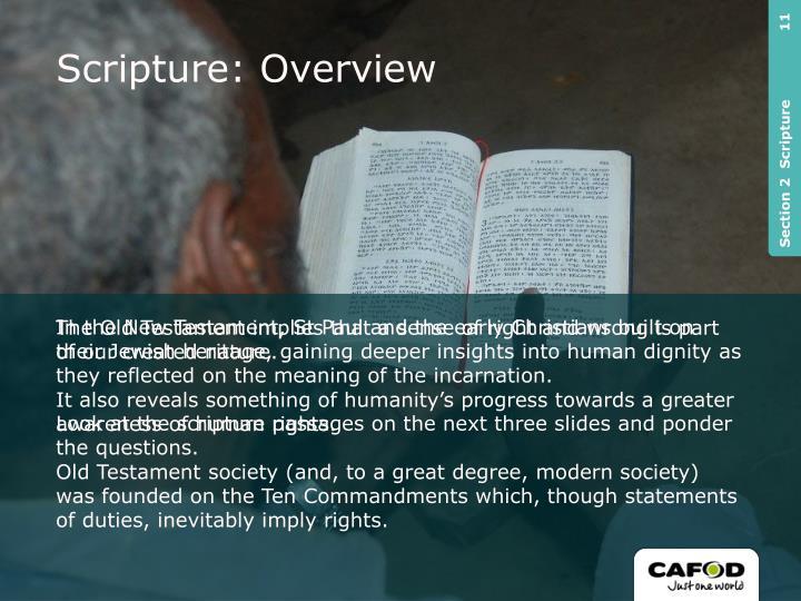 Scripture: Overview
