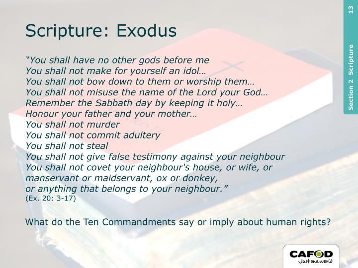 Scripture: Exodus