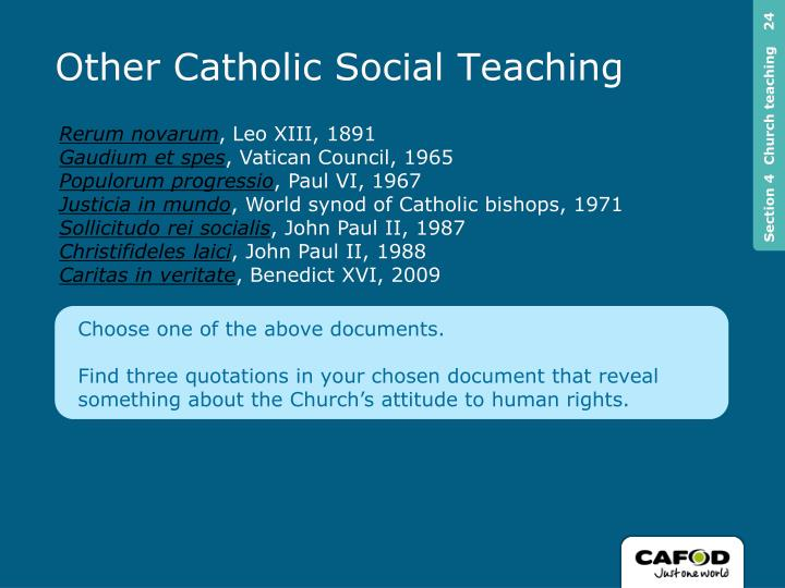 Other Catholic Social Teaching
