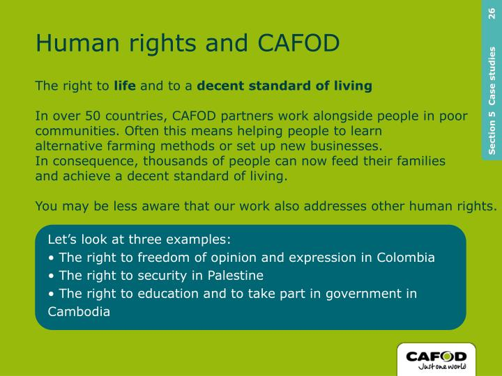 Human rights and CAFOD