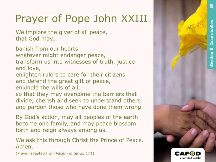 Prayer of Pope John XXIII