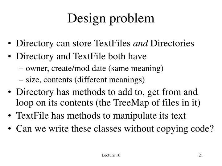 Design problem