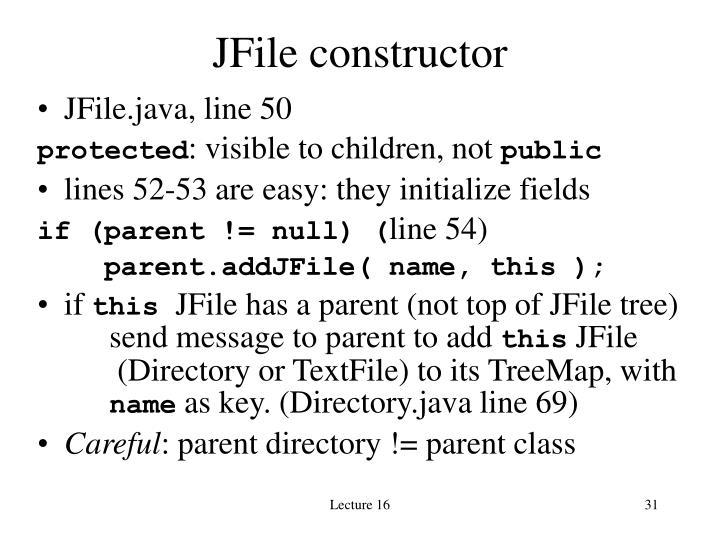 JFile constructor