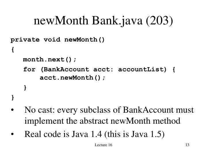 newMonth Bank.java (203)