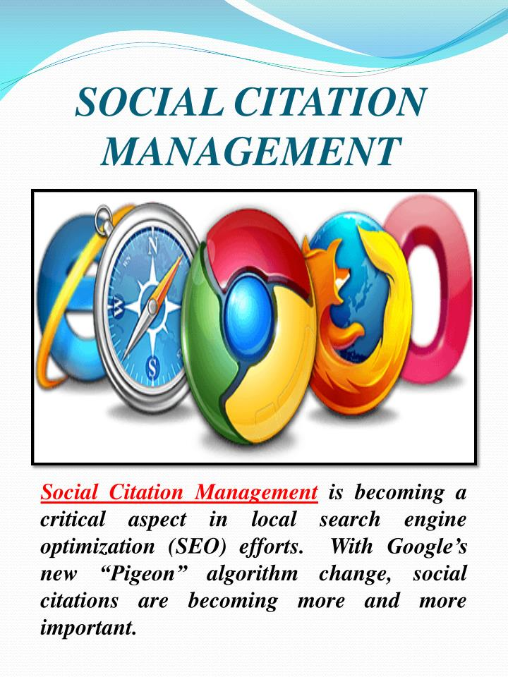 SOCIAL CITATION MANAGEMENT