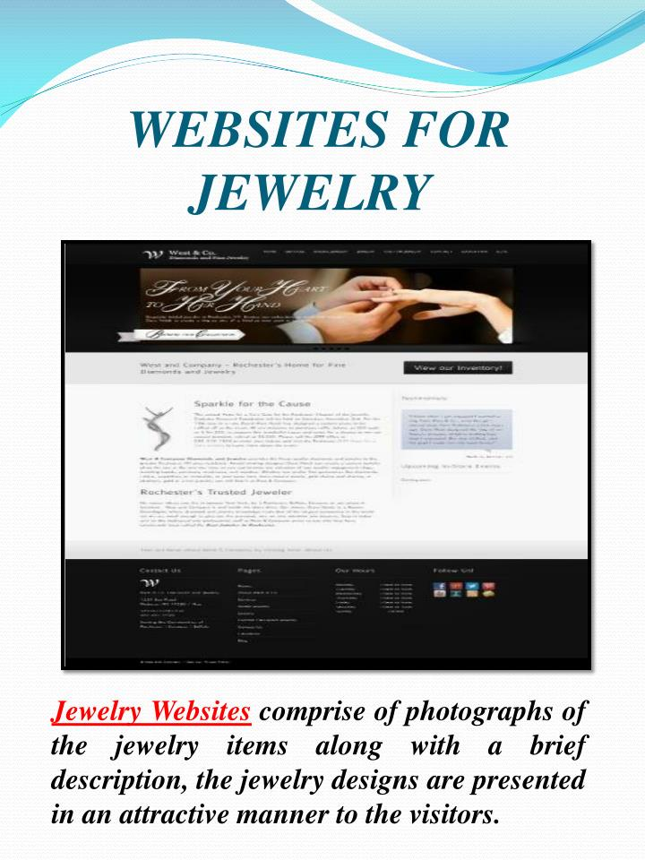 WEBSITES FOR JEWELRY