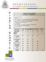 i n n o v a t i o n s in women s health research8