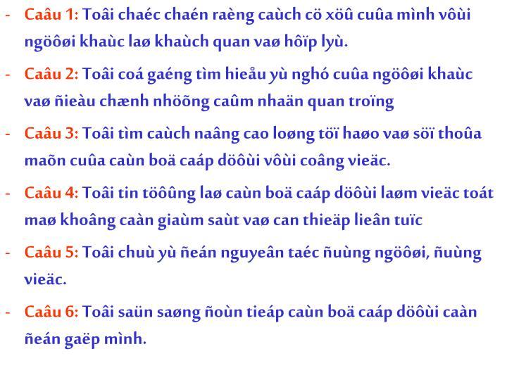 Caâu 1: