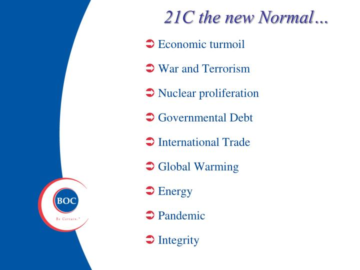 21C the new Normal…