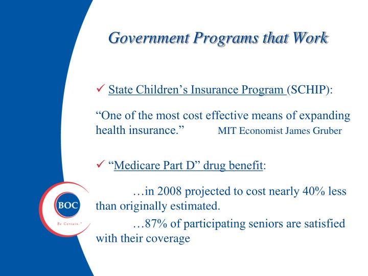 Government Programs that Work