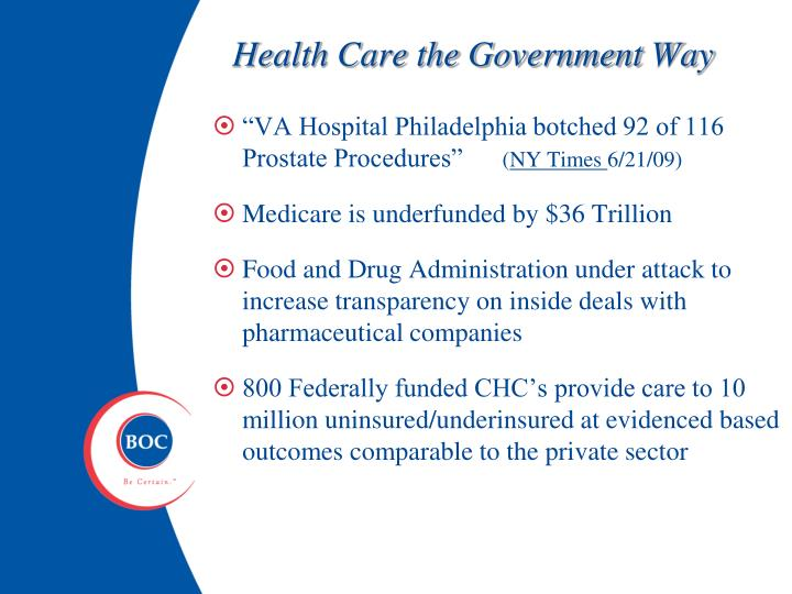 Health Care the Government Way